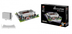 3D Model Sport Stadion,  Manchester United Old Trafford stadion DIY (doe-het-zelf) model